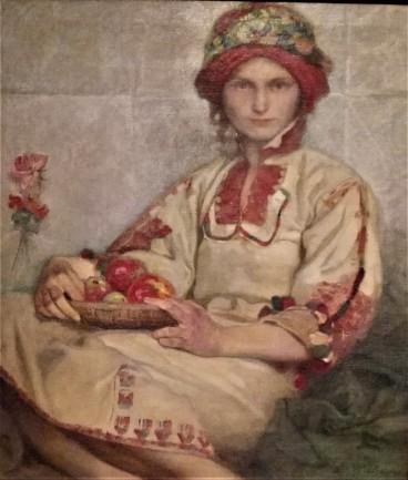 MUCHA. Mujer croata
